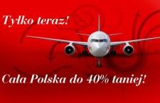 Promocja w LOT. Loty krajowe 40% taniej od 20 do 26 lutego