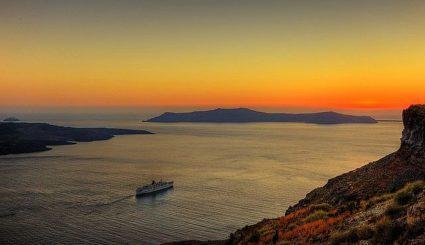 Santorini zachód słońca