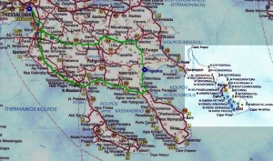 chalkidiki mapa athos
