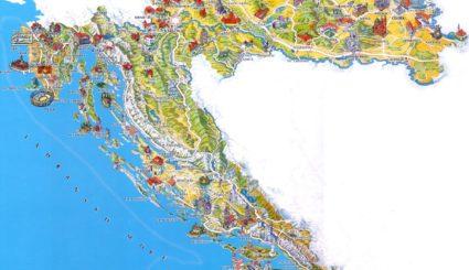 Chorwacja mapa turystyczna
