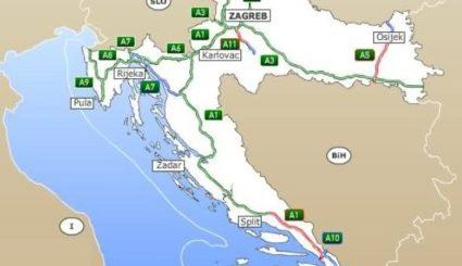 autostrady w chorwacji mapa