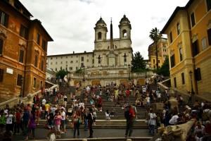 rzym hiszpanskie schody