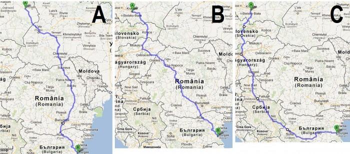 dojazd do bułgarii mapa