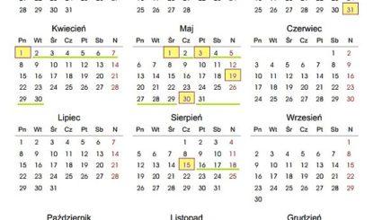 kalendarz 2013 długie weekendy