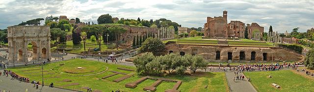 rzym, panorama