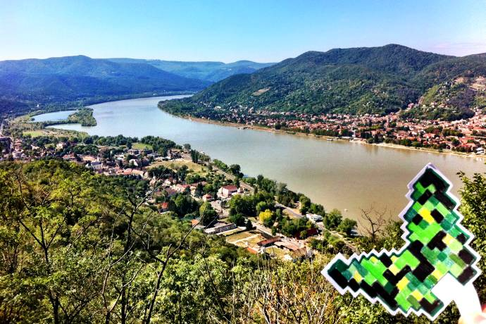 Zakole Dunaju z Wyszehradu
