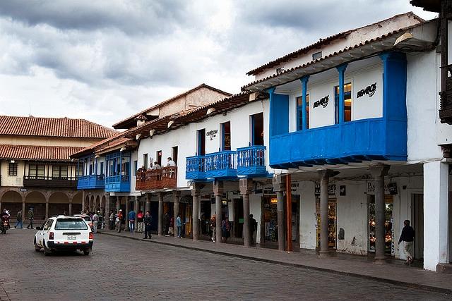 Cuzco niebieskie miasto