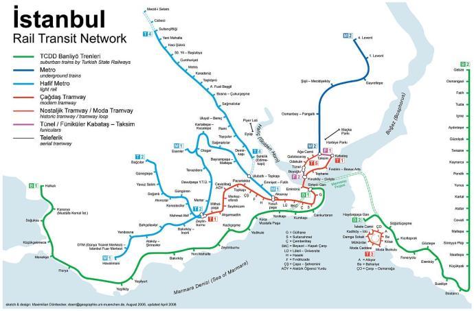 metro w istambule mapa