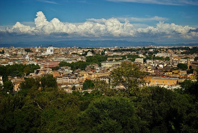Panorama Rzymu z Janikulum