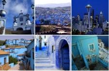 Błękit w oknie i na murze. Zobacz wszystkie niebieskie miasta świata