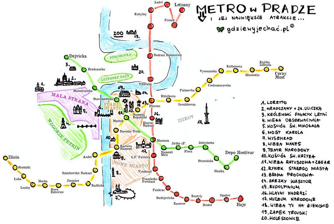 Praga W 2 Dni Co Warto Zobaczyc I Zwiedzic Mapa