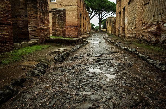 ruiny ostia antica