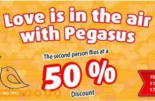 Walentynkowa promocja Pegasus Airlines. Bilety nawet 50% tańsze dla drugiej osoby