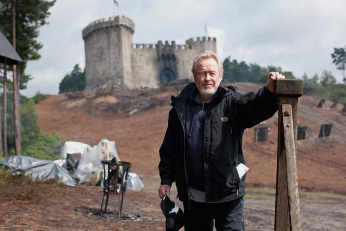 Ridley Scott na planie Robin Hooda. Bourne Wood