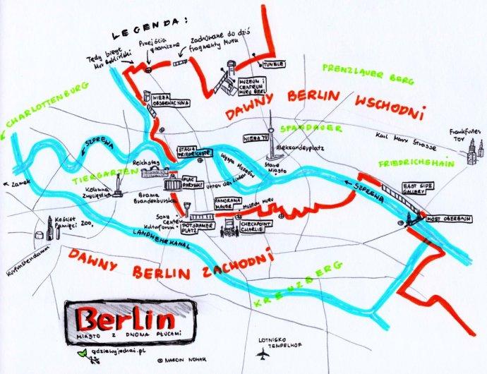 berlin mapa atrakcje turystyczne