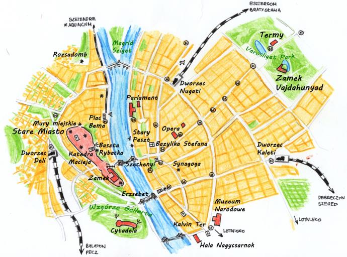 Budapeszt-mapa-turystyczna