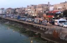 Akka, Izrael: Zachód słońca w porcie. Tu dopływali krzyżowcy