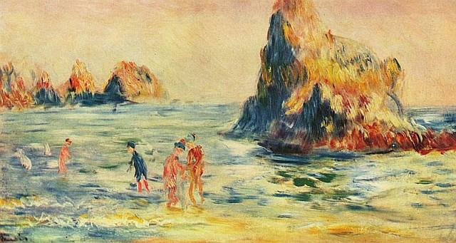 Renoir skały w Normandii
