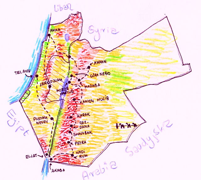 bliski wschod mapa