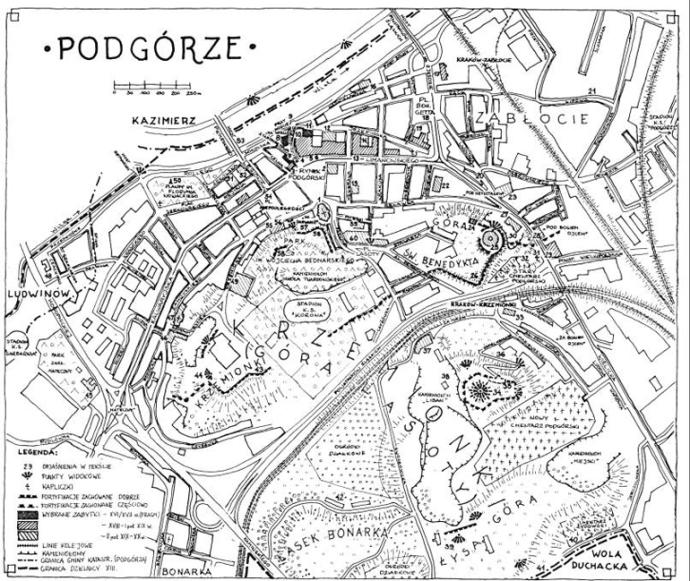 mapa podgorze krakow