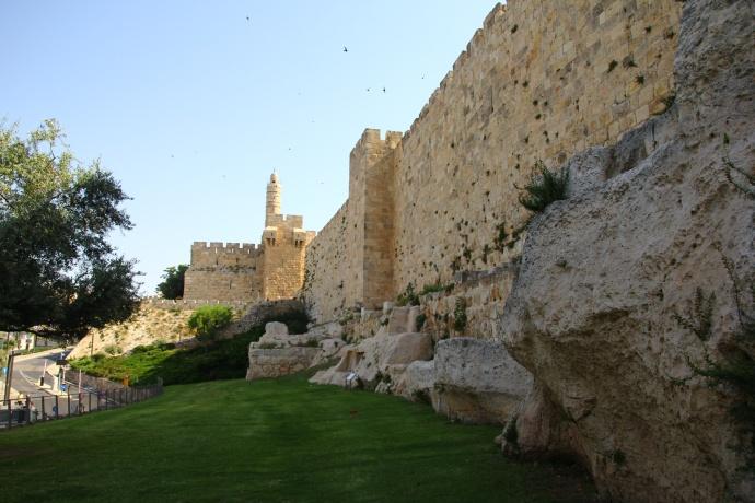 mury jerozolimskie cytadela