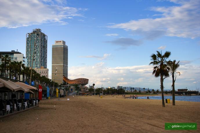 barcelona plaża morze
