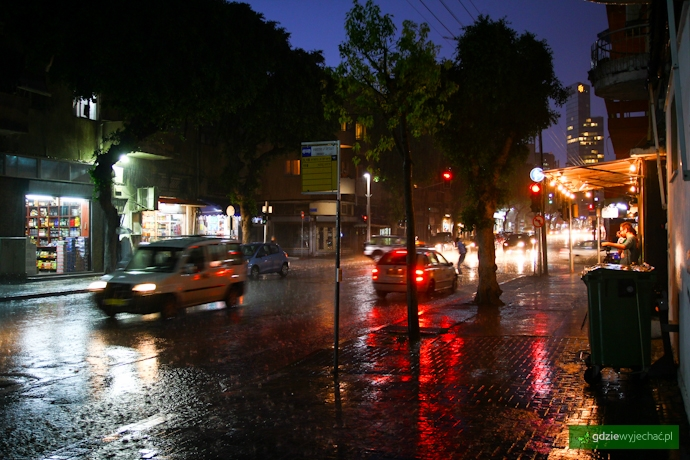 deszcz tel aviv