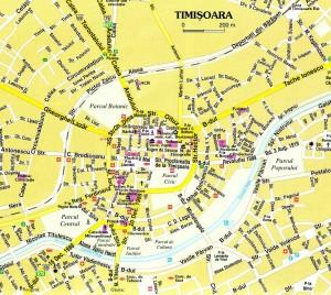 mapa timisoara zabytki