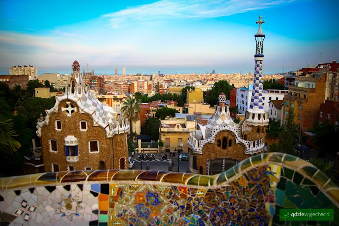 Barcelona parc guell widok