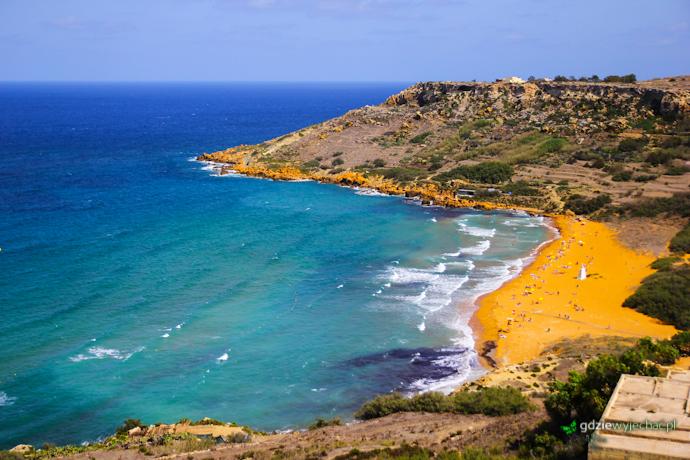 Gozo plaża Ramla Bay
