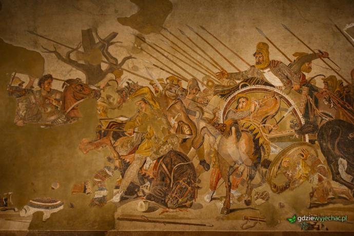 aleksander wielki i dariusz mozaika