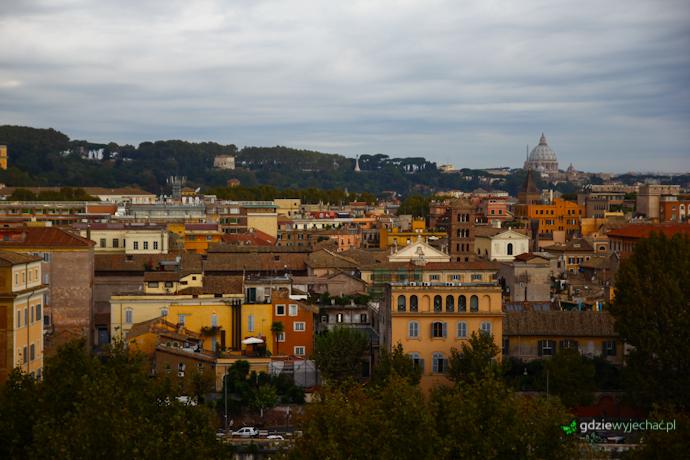 rzym trastevere zatybrze panorama