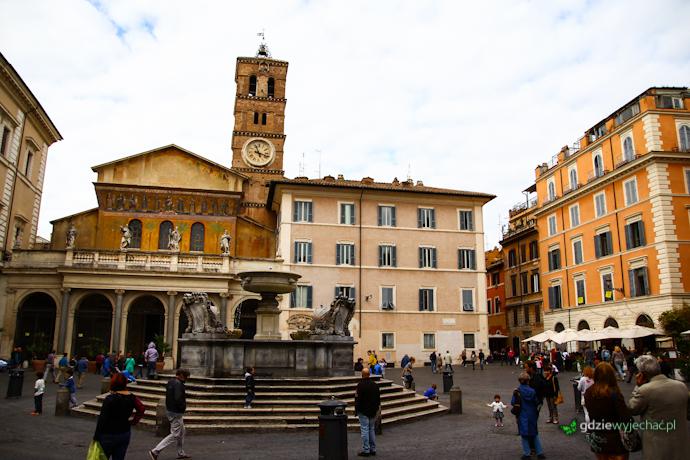 trastevere rzym piazza