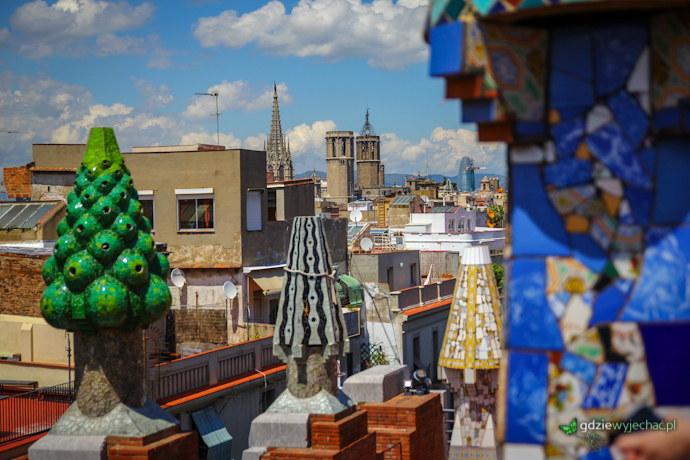 Barcelona panorama z palau guell