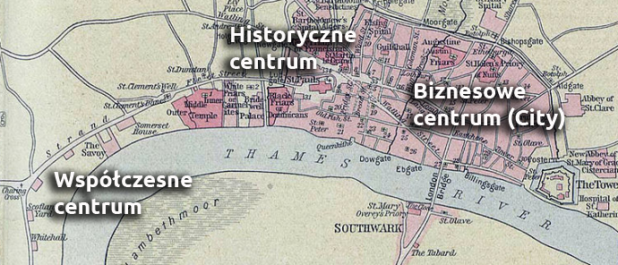 londyn centrum mapa
