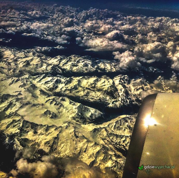 Alpy z samolotu wizzair