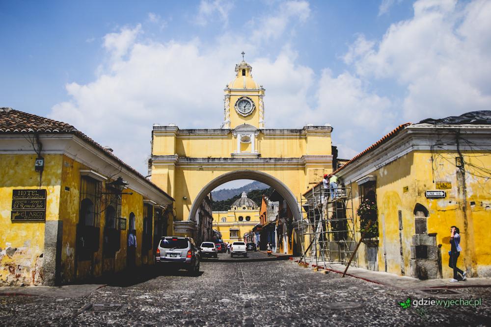 Gwatemala Antigua łuk santa catalina