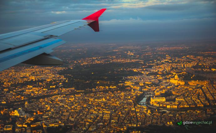 Rzym z Samolotu z lotu ptaka