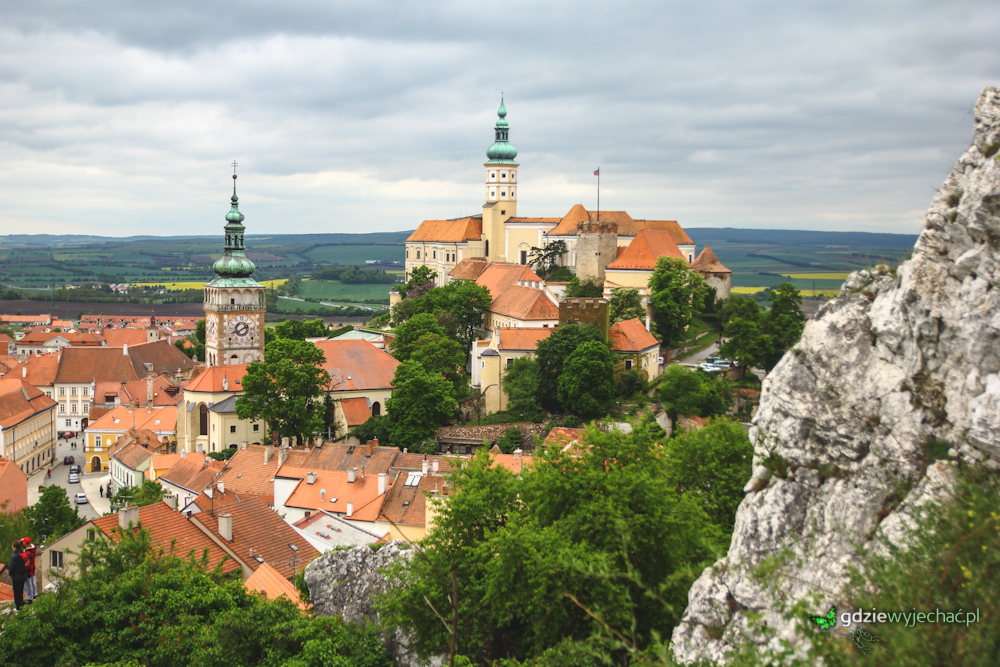 Panorama mikulow zamek