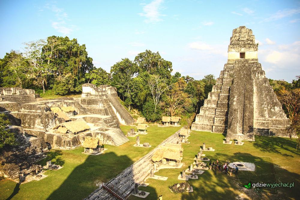 Tikal Gwatemala ruiny