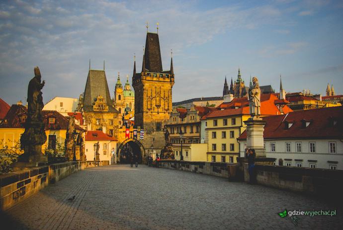 Praga mala strana wschod slonca