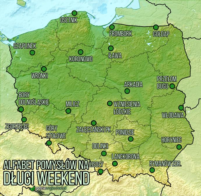 gdzie-jechać-na-długi-weekend-mapa