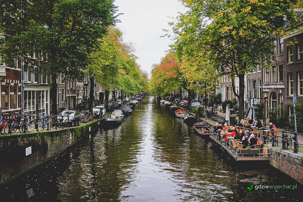 Amsterdam panorama kanały