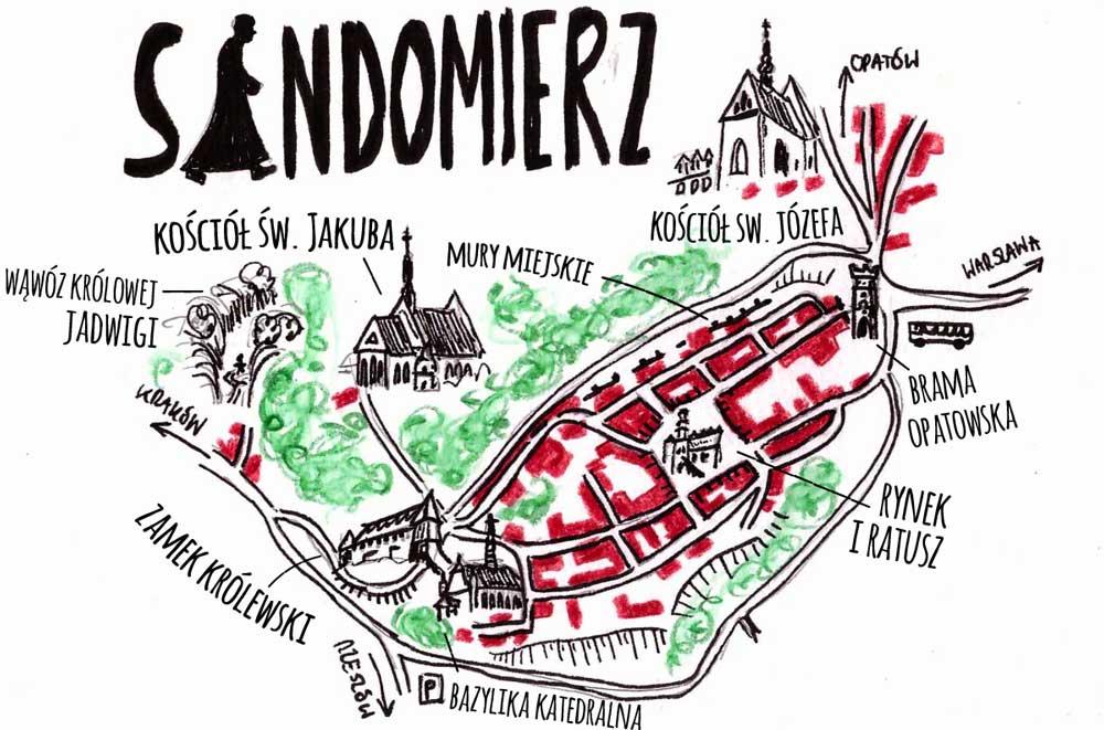 sandomierz-mapa-zabytki