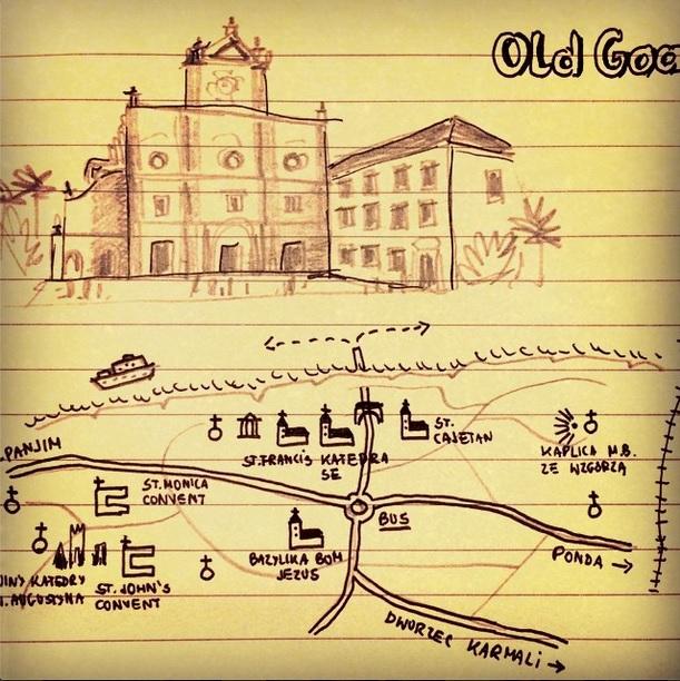 old goa stare goa mapa