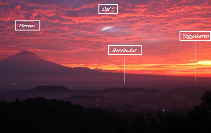 borodubur widok panorama