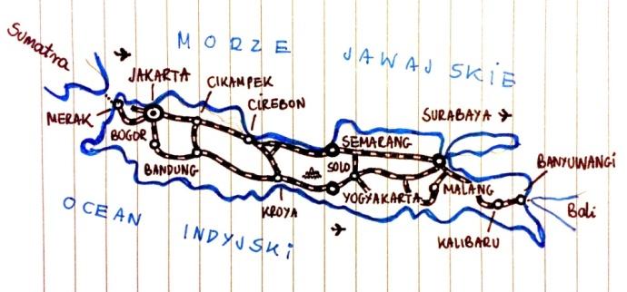 jawa indonezja mapa transport