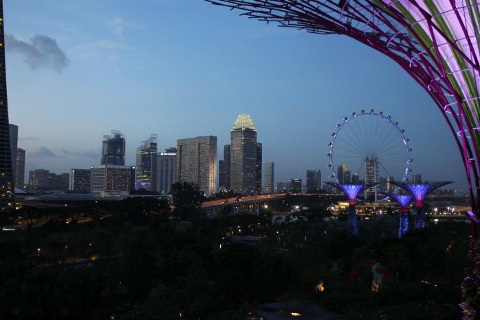 singapur panorama nocna