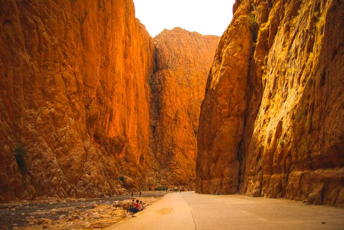 Maroko, wąwóz Todra