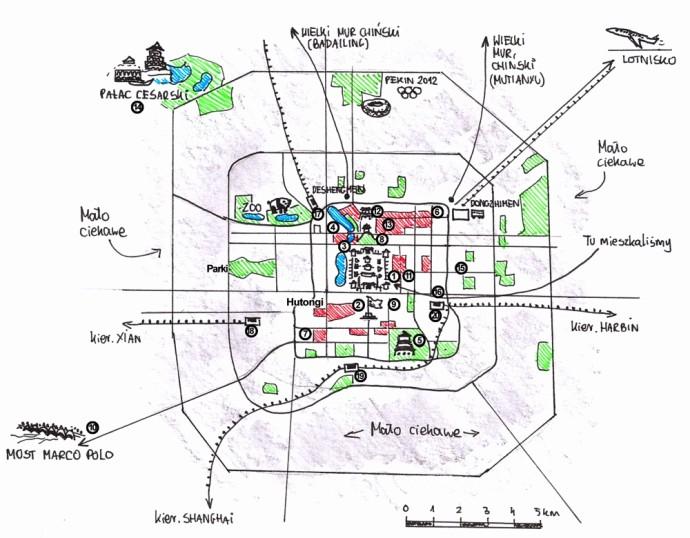 Zwiedzanie pekinu mapa atrakcje